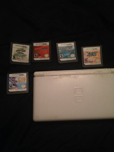 nintendo ds lite white and games