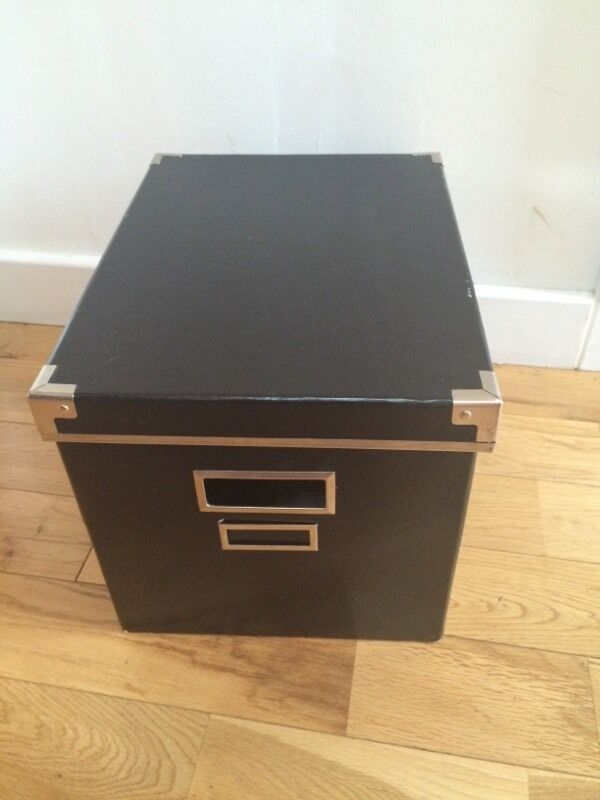 Ikea black cardboard storage box to go to a good home in for Cardboard drawers ikea