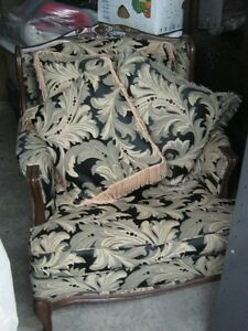 Fireplace andirons & VINTAGE ACCENT CHAIR GREAT CONDITION