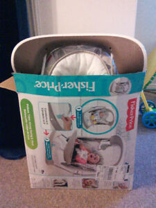 Like New, with box: Deluxe Take Along Swing & Seat / Baby Swing