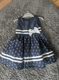 Stunning sailor dress by Savannah age 9/12mth but big fit
