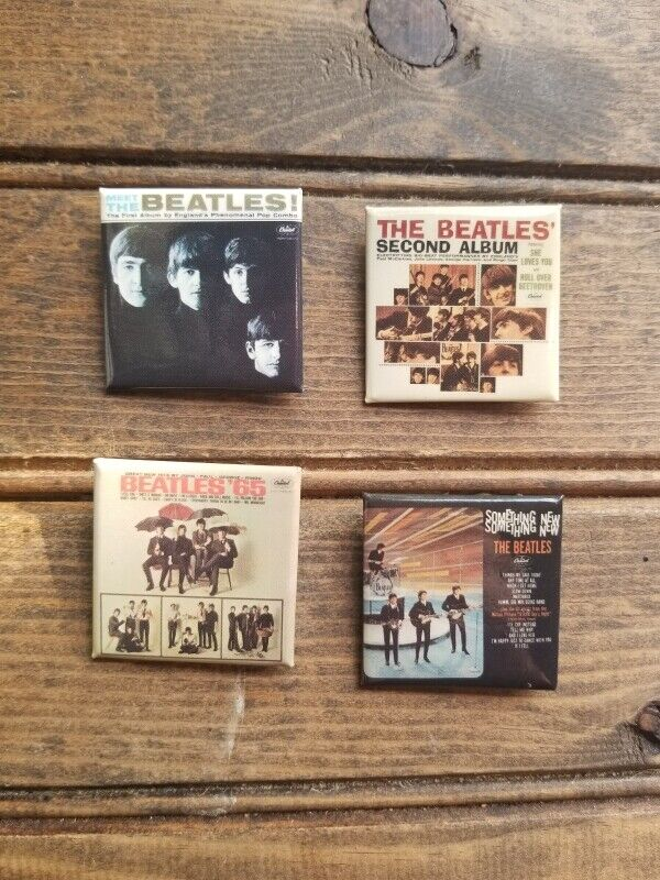 Lot of 4 Pinback Beatles: MEET THE BEATLES / Something New / Second Album / 65