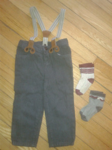 Dress Pants with Suspenders and Dress Socks