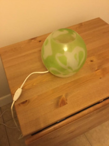 IKEA green glass globe light