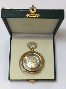 2006 Royal Canadian Mint 50-Cents Coat of Arms Pocket Watch with