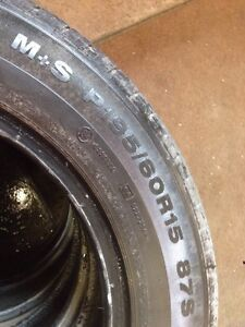 4 continental 195/60/15 all season 80% tread Kitchener / Waterloo Kitchener Area image 3