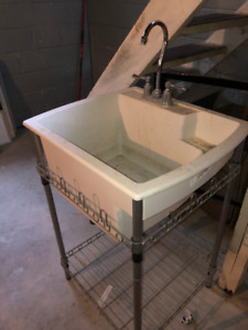 Laundry tub / sink with stand and faucet