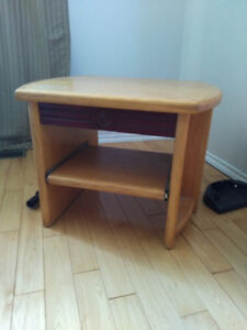 TV stand with pull out DVD/VCR shelf