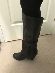 Women's Tall Wedge Boots
