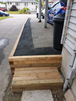 Lawn mowing weeptile Retaining walls spring clean up