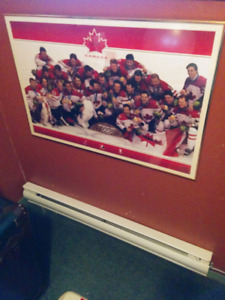 Team Canada Hockey Gold Vancouver 2010 framed poster