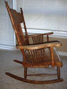 Pressed Back Rocking Chair Kawartha Lakes Peterborough Area image 3