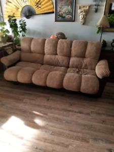 Brown futon bed