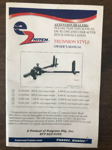 E2 Trunnion Weight Distribution Hitch - Sway Bar - 92-00-0600