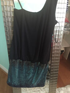 Blue and Black sparkle party dress. WORN ONCE