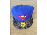 Brand new superman SnapBack leopard