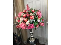 Artificial flowered wedding table centre-pieces for sale