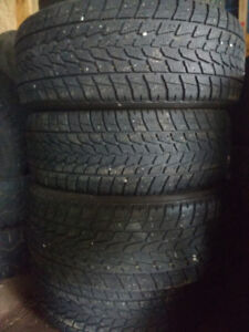 Four Toyo Open country 255 55 R19 winter tires.