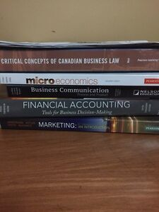 BBA firsty year business textbooks Guelph Humber