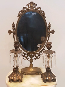 Mantle dresser mirror candle set