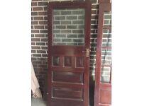 1930's Solid Original External Wooden Door