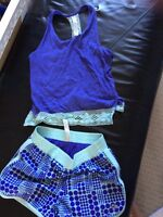 Triple Flip shorts and tank top size 4