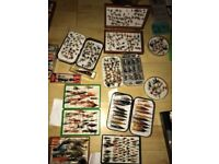 Lures and flies and boxes fox box and Wheatley