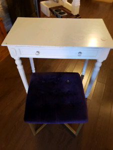 Makeup table and seat