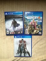 Selling Bloodborne, Shadow of Mordor And Far Cry 4