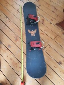 Snowboard and Bindings. *Read the Ad