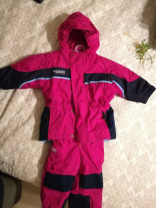 Columbia 3T Girl's Tectonite Snow Suit, Excellent!!