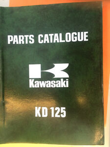 75 76 77 78 Kawasaki KD125 A3 Parts Catalogues