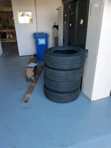 4 sets of truck tires