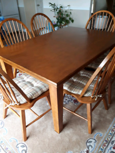 Solid wooden dining room table