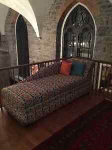 Custom-built Chaise Lounge with interior storage