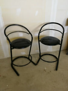 Two Metal Bar Stools
