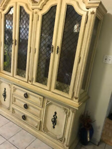 dinning table and cupboard