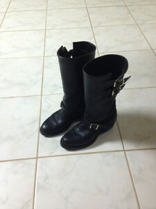 ladies motorcycle boots and vest