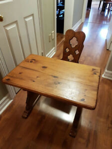 Kid's Desk and Chair - Solid Wood
