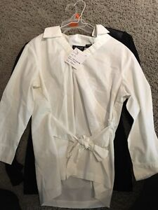White maternity blouse, great condition, size M
