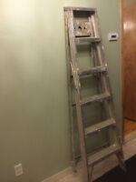 An Aluminum Step Ladder