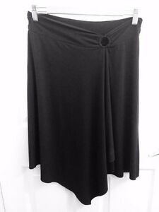Black Asymmetrical Stretchy Skirt
