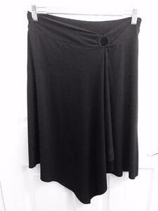 Black Asymmetrical Stretchy Skirt