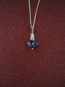 Sterling Silver Sapphire Birthstone Pendant Reduced