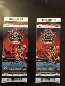 Heritage Classic tickets great seats 500 both