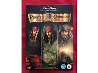 Pirates of the Caribbean three movie collection