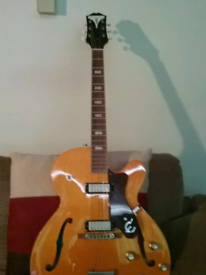 Epiphone John lee hooker guitar mint condition with case and stap etc