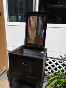 Washroom vanity and mirror (delivery available)
