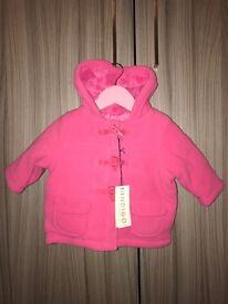 M&S Indigo Collection 6-9 month girls duffel coat