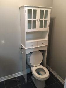 Armoire rangement dessus toilette